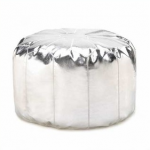 Silver Pouf Ottoman Wholesale at Eastwind Wholesale Gift Distributors