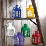 Blue Railway Candle Lantern Lamp Wholesale at Eastwind Wholesale Gift Distributors